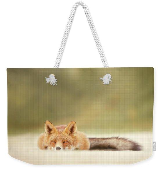 Lazy Fox Series - Sleepy Fox Is Sleepy Weekender Tote Bag