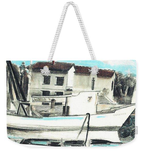 Le Barche Galleggianti Nel Mare Adriatico  Weekender Tote Bag