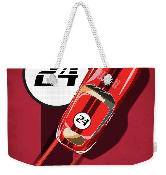 Le Mans Jag Weekender Tote Bag