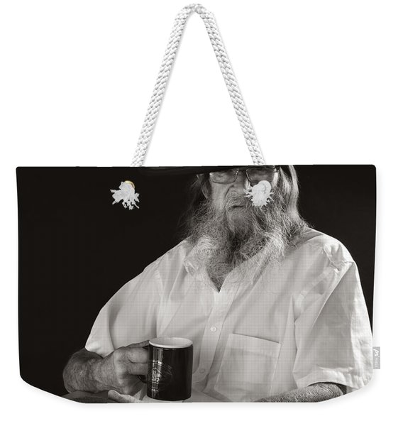 Weekender Tote Bag featuring the photograph Le Poete by Ron Cline