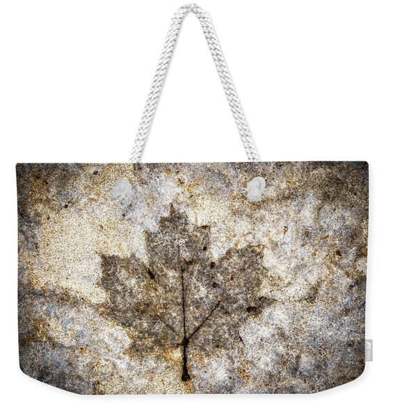 Leaf Imprint Weekender Tote Bag