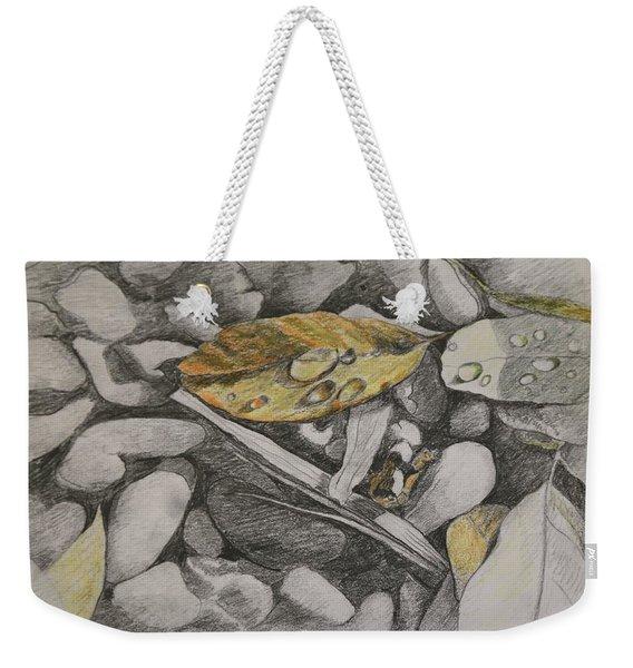 Leaves And Pebbles Weekender Tote Bag