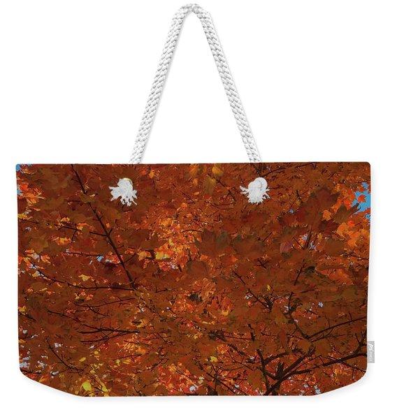 Leaves Of Fire Weekender Tote Bag