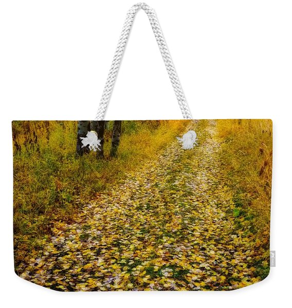Leaves On Trail Weekender Tote Bag