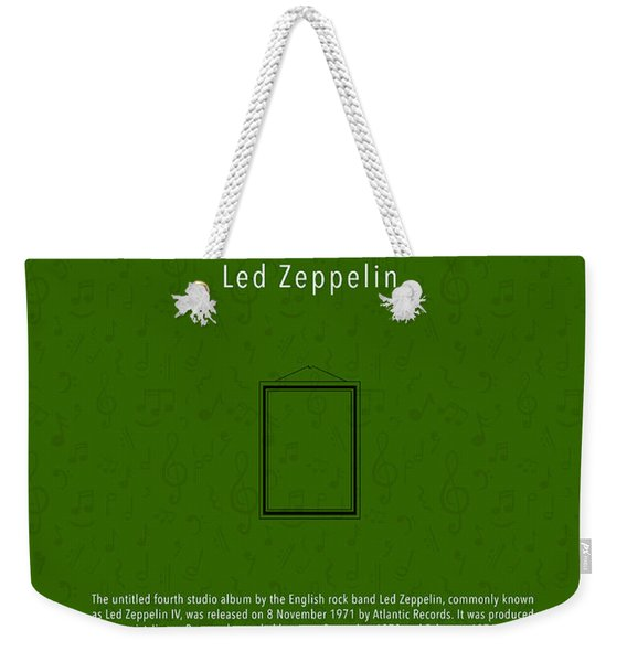 Led Zeppelin Iv Led Zeppelin Greatest Albums Of All Time Minimalist Series Weekender Tote Bag