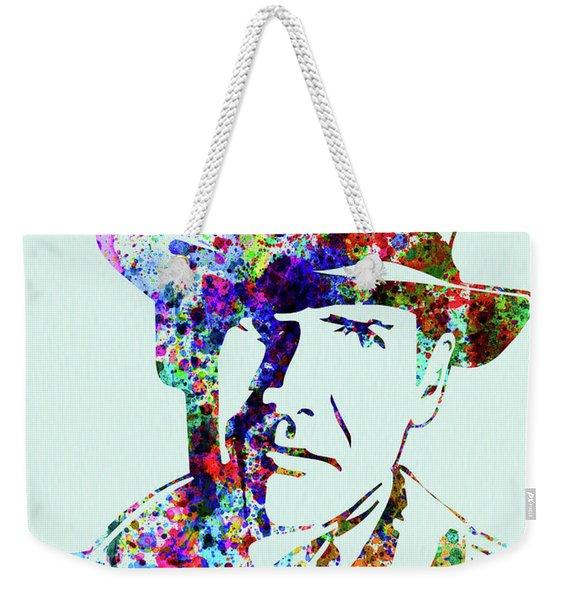 Legendary Indiana Jones Watercolor Weekender Tote Bag