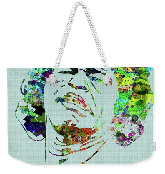 Legendary James Brown Watercolor Weekender Tote Bag