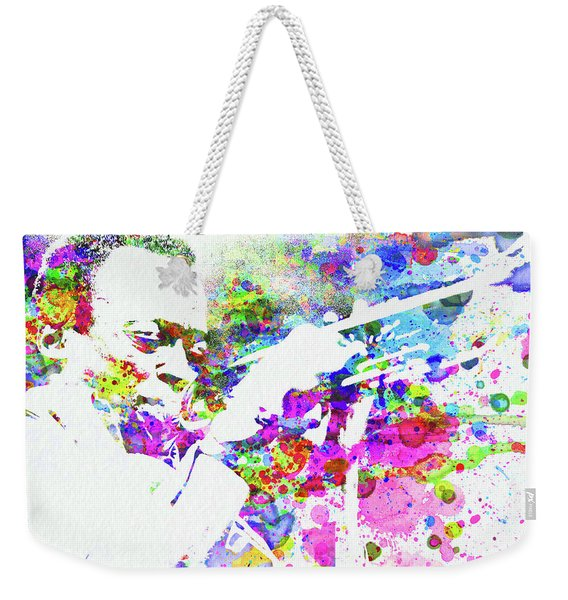 Legendary John Coltrane Watercolor Weekender Tote Bag