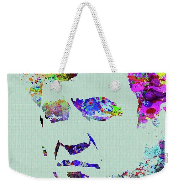 Legendary Johnny Cash Watercolor Weekender Tote Bag