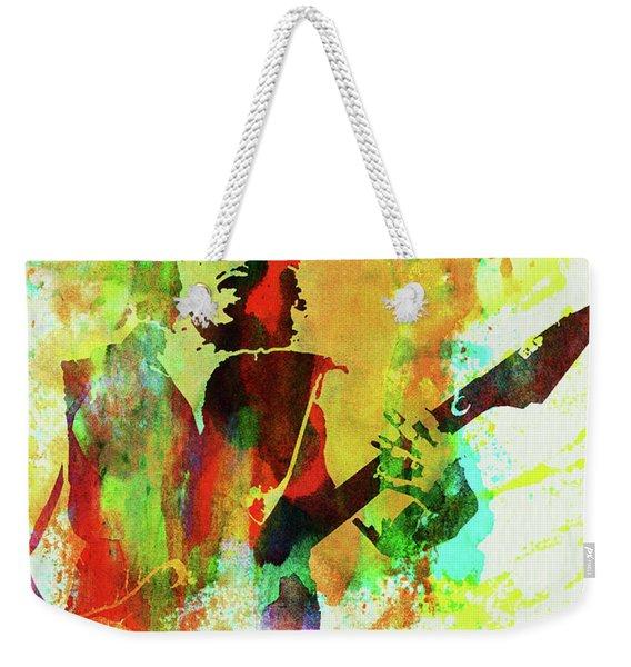 Legendary Kirk Hammett Watercolor Weekender Tote Bag