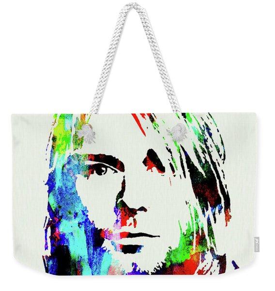 Legendary Kurt Cobain Watercolor Weekender Tote Bag