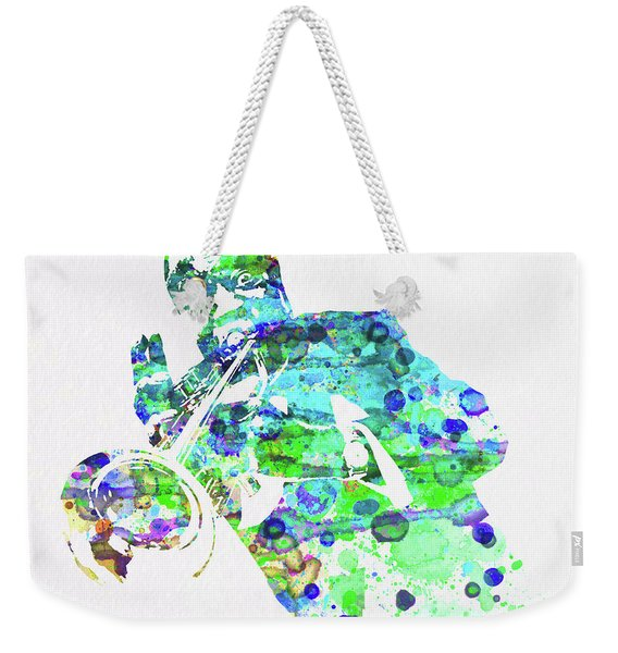 Legendary Louis Armstrong Watercolor  Weekender Tote Bag
