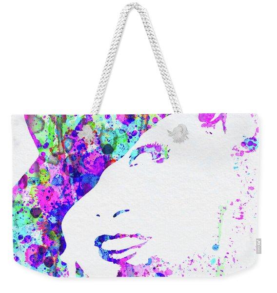 Legendary Marlene Dietrich Watercolor I Weekender Tote Bag