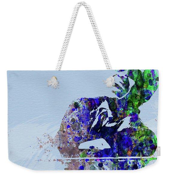 Legendary Ray Charles Watercolor Weekender Tote Bag
