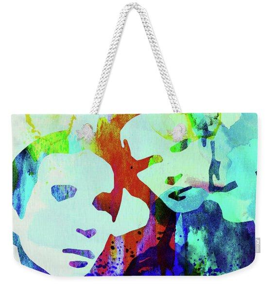 Legendary Simon And Garfunkel Watercolor Weekender Tote Bag