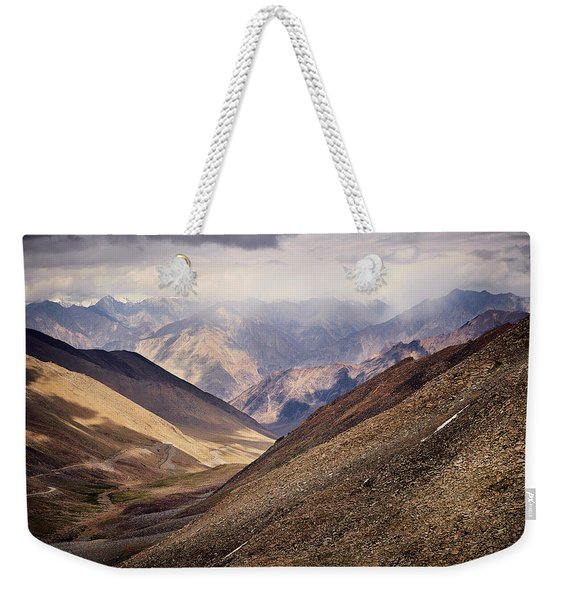 Weekender Tote Bag featuring the photograph Leh-manali Mountains by Whitney Goodey
