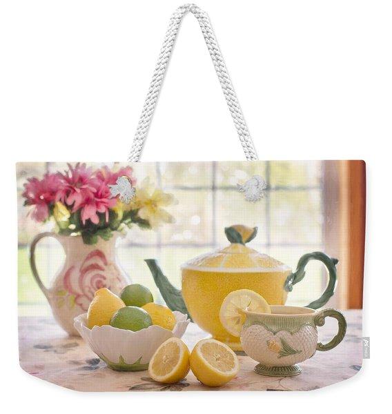 Lemon Tea  Weekender Tote Bag