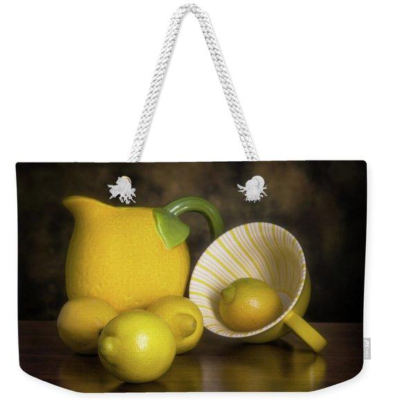 Lemons With Lemon Shaped Pitcher Weekender Tote Bag