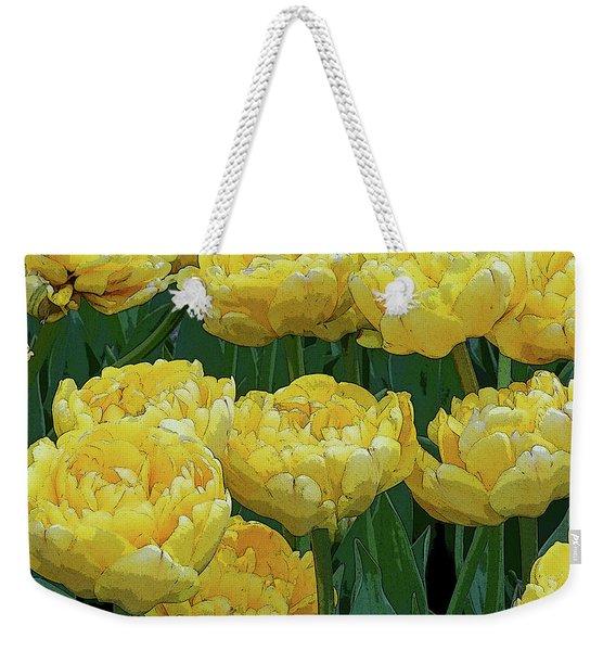 Lemony Yellow Tulips Weekender Tote Bag