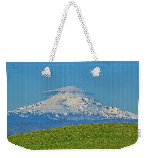 Lenticular Cloud On Mount Hood Weekender Tote Bag