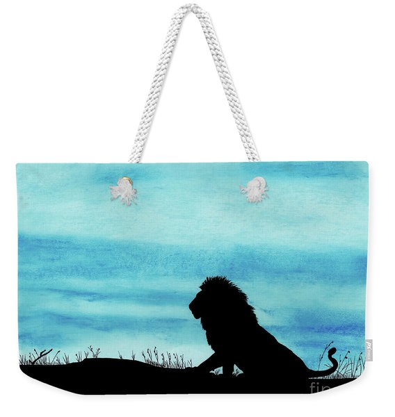 Leo At Sunset Weekender Tote Bag