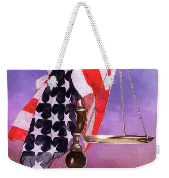 Liberty And Justice For All Weekender Tote Bag