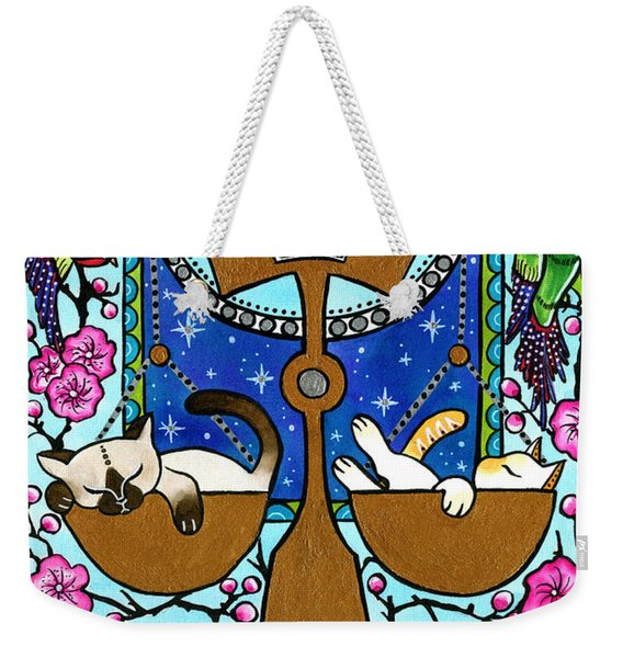 Libra Cat Zodiac Weekender Tote Bag