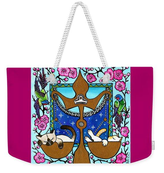 Libra Cat Zodiac Weekender Tote Bag