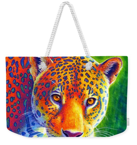 Light In The Rainforest - Jaguar Weekender Tote Bag