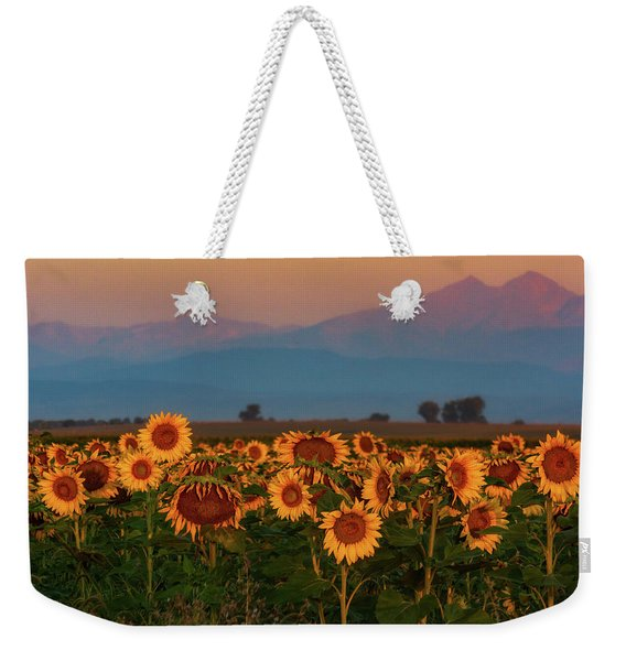 Light Of The Sunflowers Weekender Tote Bag