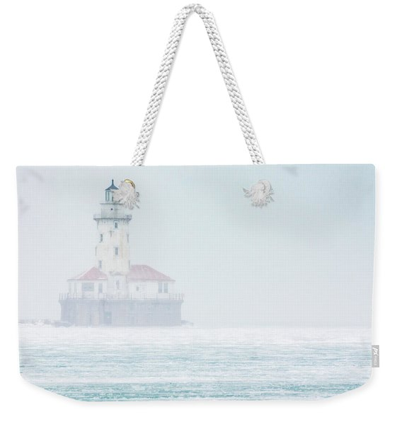 Lighthouse In The Mist Weekender Tote Bag