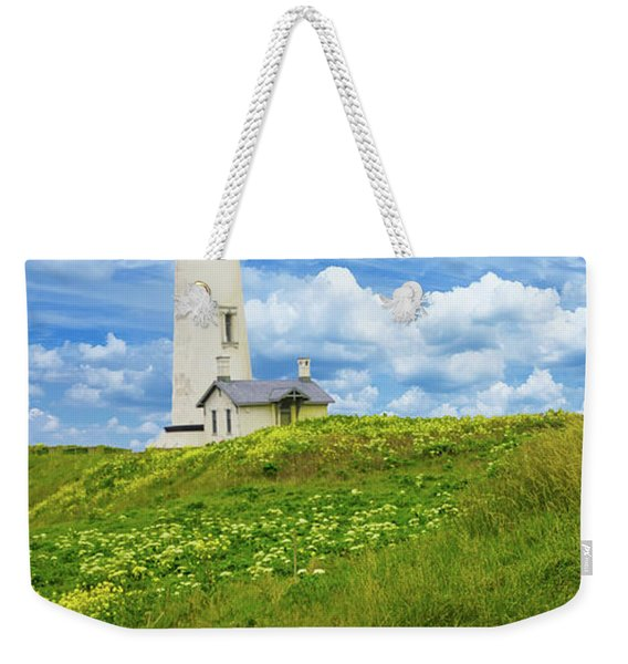 Lighthouse On  Yaquina Head  Weekender Tote Bag