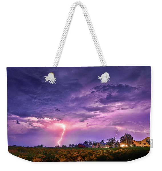 Lighting Maine Farm Weekender Tote Bag