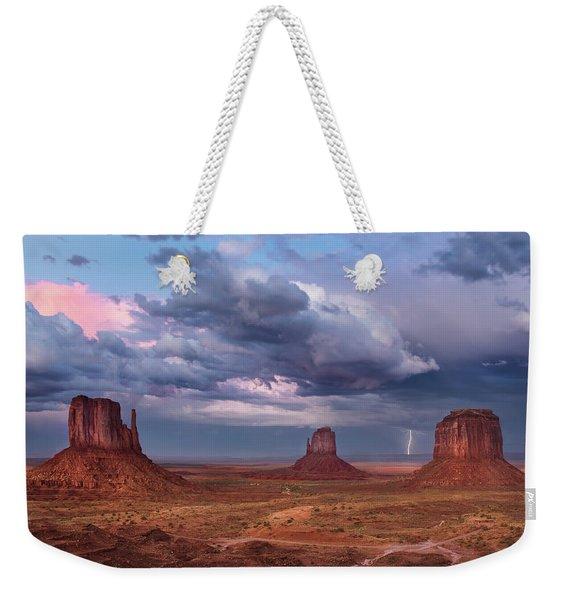 Lightning Across The Valley    Weekender Tote Bag