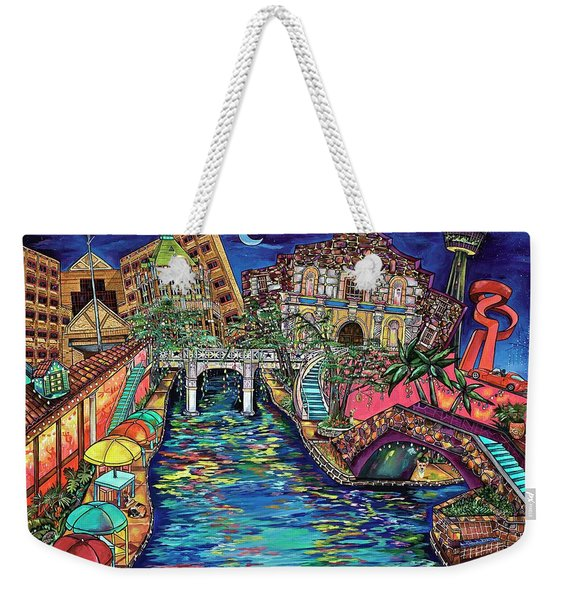 Lights On The Banks Of The River Weekender Tote Bag