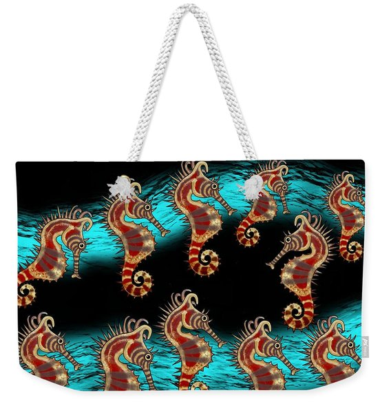 Like Musical Notes Upon The Sea Weekender Tote Bag
