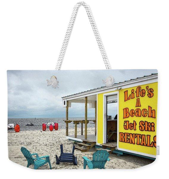 Like's A Beach Weekender Tote Bag