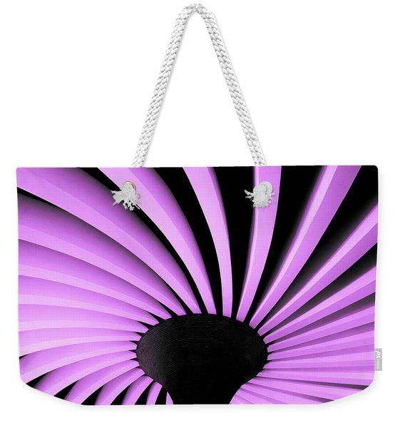 Lilac Fan Ceiling Weekender Tote Bag