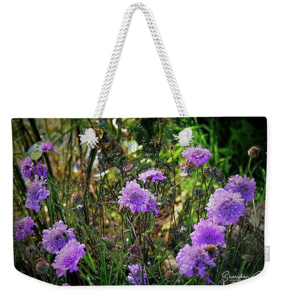 Lilac Jelly Pincushion Weekender Tote Bag