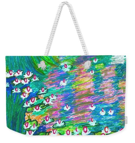 Lilies Of The Pond Weekender Tote Bag