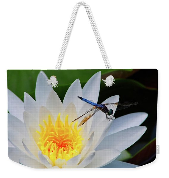 Lily And Dragonfly Weekender Tote Bag
