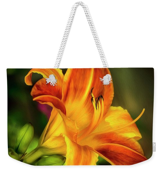 Lily Of The Day Weekender Tote Bag