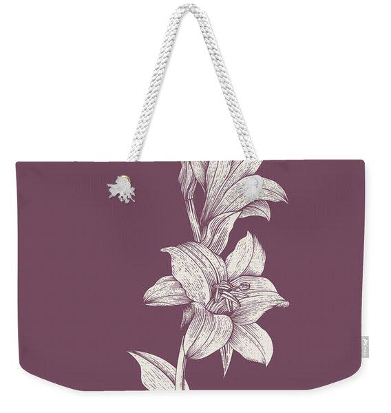 Lily Purple Flower Weekender Tote Bag