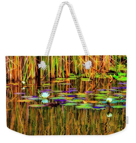 Lilypond Reflections Weekender Tote Bag
