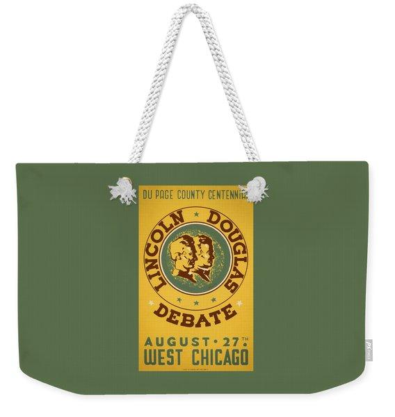 Lincoln Douglas Debate - Wpa - 1939 Weekender Tote Bag
