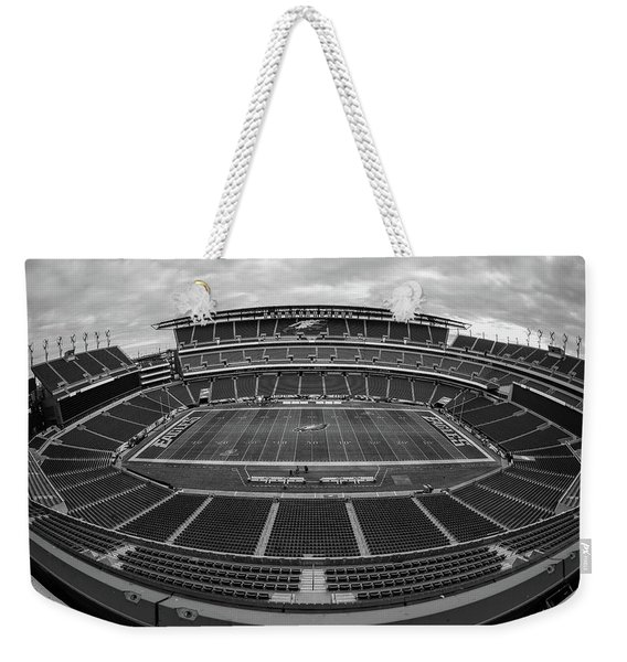 Lincoln Financial Field Black And White Weekender Tote Bag