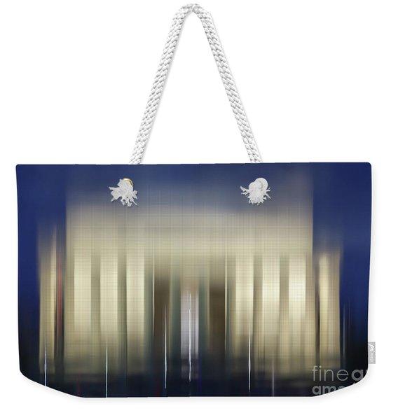 Lincoln Memorial Reflection At Night Washington Dc Weekender Tote Bag