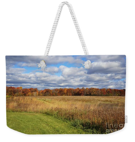 Line Of Autumnal Grace Weekender Tote Bag