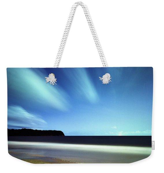 Linear Clouds Over Mayaro Weekender Tote Bag