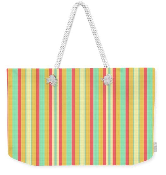 Lines Or Stripes Vintage Or Retro Color Background - Dde589 Weekender Tote Bag